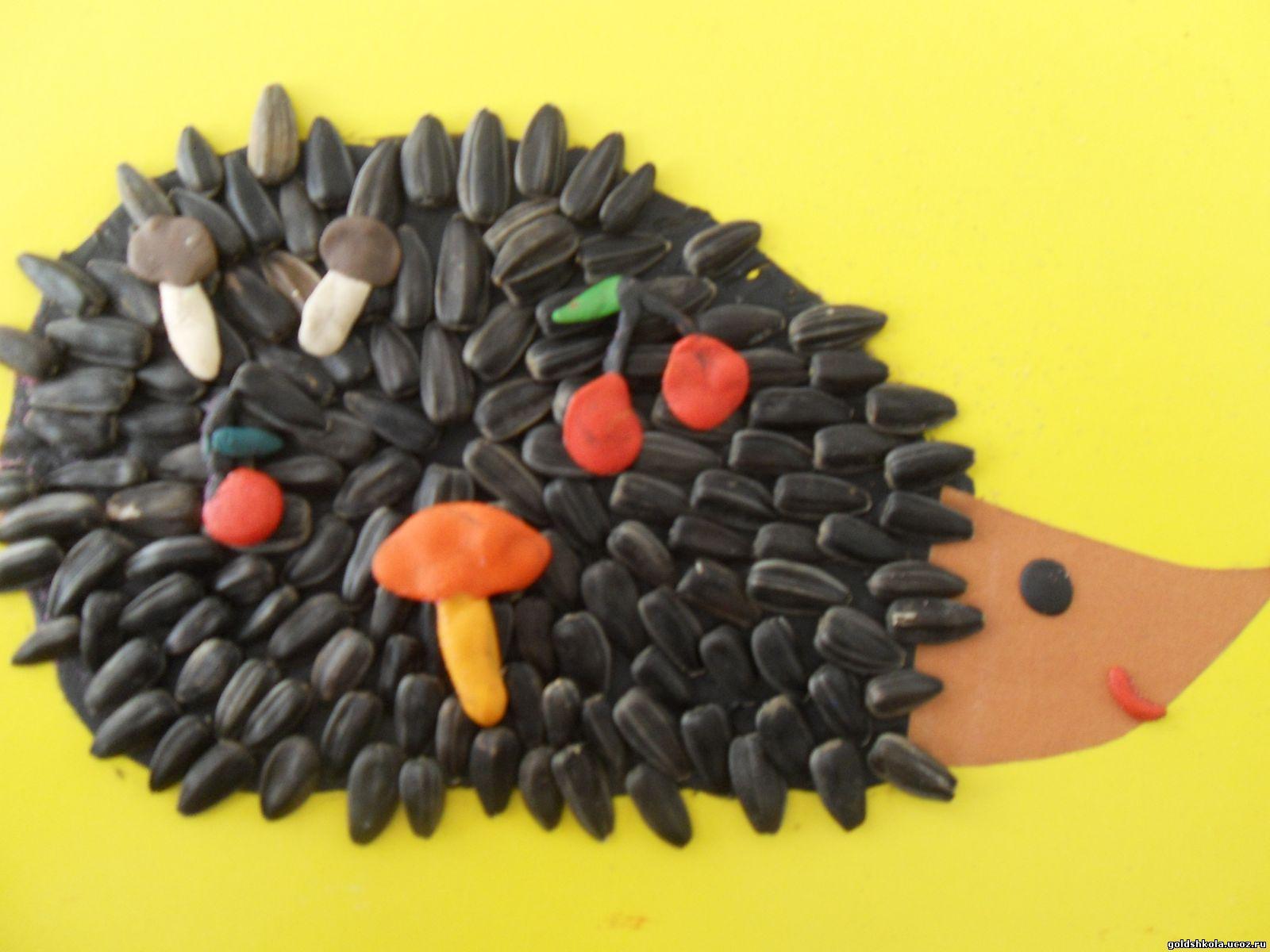Поделки из пластилина фото ёжик