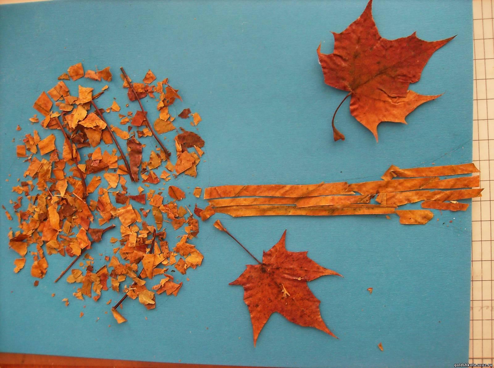Поделка из листьев клёна